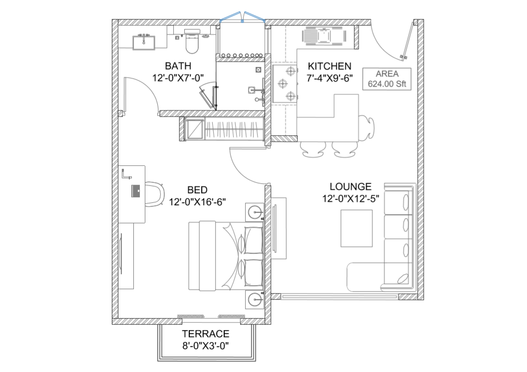 two bed rozela heights
